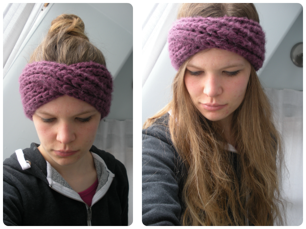Free Knitting Pattern Chunky Headband : Free Pattern: Knit Turban Headband vinaknits