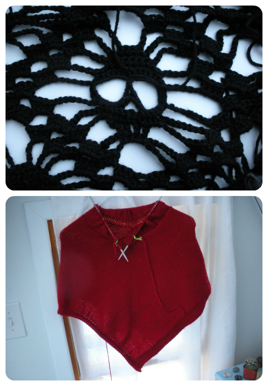 Work in Progress Wednesday: Skull Blanket and Poncho